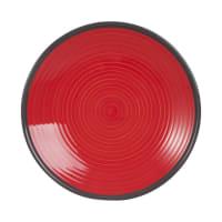 VALENCE - Set van 6 - Dessertbord van rood aardewerk