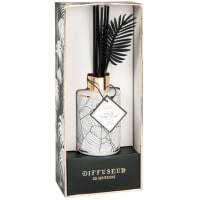 BLACK AND GOLD - Diffuseur en verre teinté blanc parfum Jungle oasis 100ML