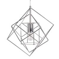 Draadhanglamp van chroommetaal Trio