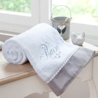 Drap de bain en coton blanc 100x150 Bain