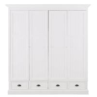 NEWPORT - Dressing 4 portes 4 tiroirs blanc