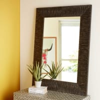Dunkelbrauner Spiegel 90x120cm Malawi