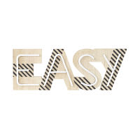 """Easy"" Light-Up Word Wall Art W 55 Atelier Hype"
