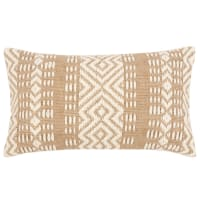 JOALE - Ecru and Brown Woven Jute and Cotton Cushion Cover 30x50