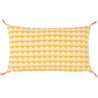 Ecru and Mustard Yellow Cotton Cushion Cover 30x50 Festo