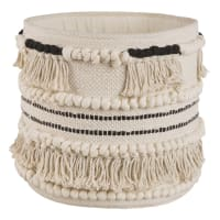 Ecru Cotton Berber Basket Ethnik