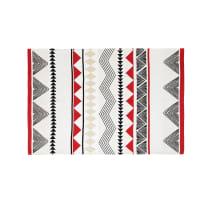 Ecrufarbener Outdoor-Teppich mit grafischen Motiven 160x230