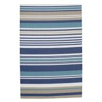 Polypropylene Stripe Outdoor Rug in Blue 120x180 Escale