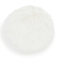 faux fur chair pad, white, D 38 cm Eskimo