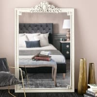 VICTOIRE - Espejo con molduras grises 120x185