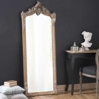 VOLTAIRE - Espejo de pie de resina dorado 64x168