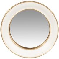 DIANA - Espejo de polirresina y yeso beige y dorado 15 cm
