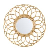 BUCOLIQUE - Espelho redondo de vime diâmetro 34