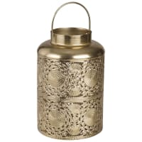 Farolillo de metal calado dorado Masira