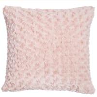 Faux fur cushion in pink 45 x 45cm