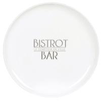 BISTRONOME - Set aus 6 - Flacher Teller aus weißem Porzellan, bedruckt