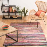 ROULOTTE - Flechtteppich aus Baumwolle, 140 x 200cm, bunt