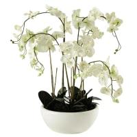 potted artificial orchid H 98cm Flora