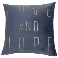 Fodera di cuscino grigia stampa dorata, 40x40 cm Hope