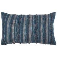 Fodera di cuscino in cotone blu, 30x50 cm Verseau