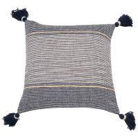 Fodera di cuscino in cotone blu, 40x40 cm Syrius