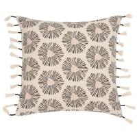 Fodera di cuscino in cotone con pompon, 40x40 cm Corleone