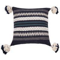 Fodera di cuscino in cotone jacquard blu, 40x40 cm Kolari