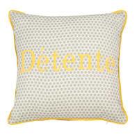 Fodera di cuscino in cotone ricamato giallo, 40x40 cm Carline