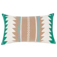 Fodera di cuscino in cotone ricami grafici, 30x50 cm Anama