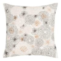 Fodera di cuscino in cotone stampa floreale e perle, 40x40 cm Odalys