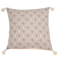 Fodera di cuscino in cotone stampa grafica, 40x40 cm Allia