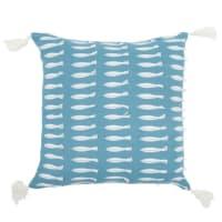 Fodera di cuscino in cotone stampa pesci, 40x40 cm Pez