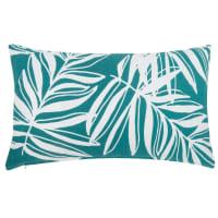 Fodera di cuscino in cotone verde con stampa foglie, 30x50 cm Fira
