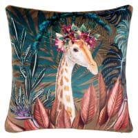 CAMBERLEY - Fodera per cuscino con stampa animale multicolore 40x40 cm
