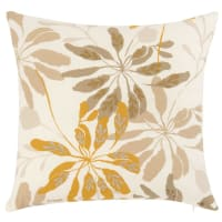 ANSO - Fodera per cuscino in cotone bio con stampa vegetale 40x40 cm