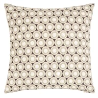 AUMESSAS - Fodera per cuscino in cotone bio verde oliva e nero 40x40 cm