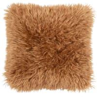 ANDORA - Fodera per cuscino in pelliccia ecologica caramello 40x40 cm