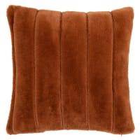 SANZA - Fodera per cuscino in pelliccia ecologica marrone scoiattolo 40x40 cm