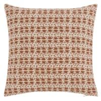 GARNES - Fodera per cuscino stampato cammello e oro 40x40 cm