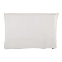 MORPHEE - Fodera per testiera del letto 160 in lino lavato bianco - Morphée