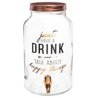 Fontaine à boisson en verre à motifs Happy Things