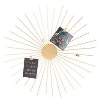 BETTY - Fotopinnwand Sonne aus goldfarbenem Metall, D60cm