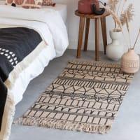 MILIANA - Fringed cotton and jute rug 60x120cm