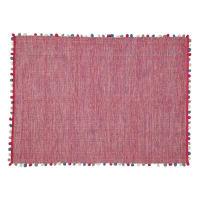 Fuchsiaroze katoenen  tapijt 120 x 180 cm Pompon