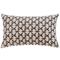 LIMEVAG - Funda de cojín de algodón color beige, gris antracita y crudo 30x50 cm