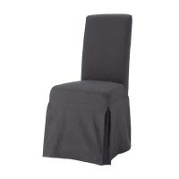 Funda larga de silla de algodón gris antracita Margaux