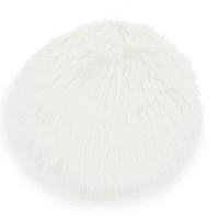 Galette de chaise en fausse fourrure blanche D 38 cm Eskimo