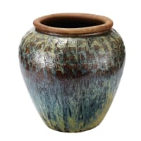 Gartenvase aus Terrakotta mit Ziermotiven, H73 Epices