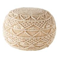 SARRIA - Geflochtener Puff aus Baumwoll-Makramee