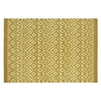 Gelber Outdoor-Teppich mit grafischen Motiven 160x230